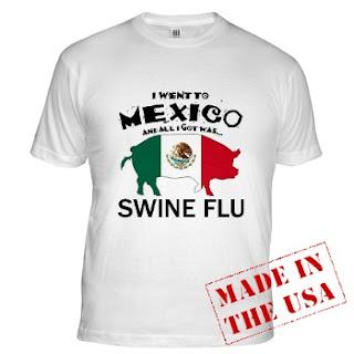 Traducción: Fui a México y solo traje gripe porcina.