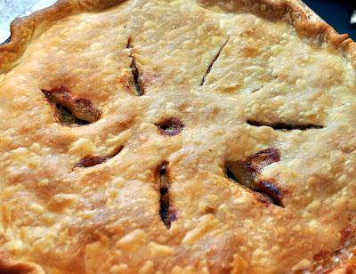 Turkey Sausage pot pie baked