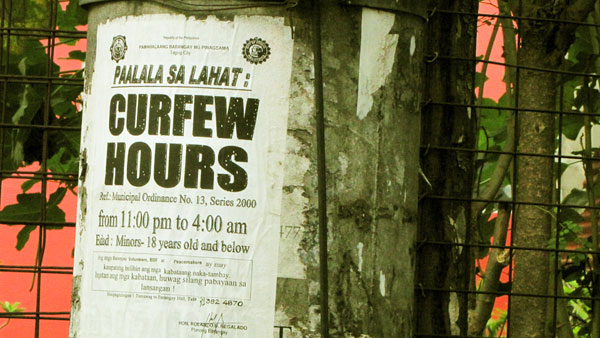 barangay curfew Jennifer doleac argues that juvenile curfew laws used by most major cities to  reduce gun violence are counterproductive, often increasing gun.