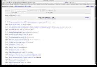 Craigslist hookup section