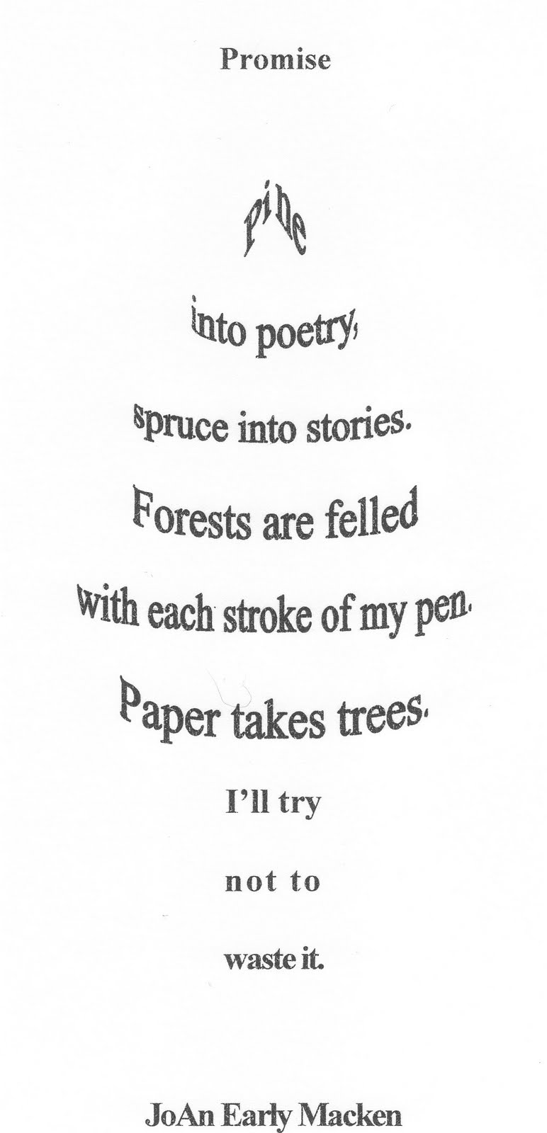 examples of short poems
