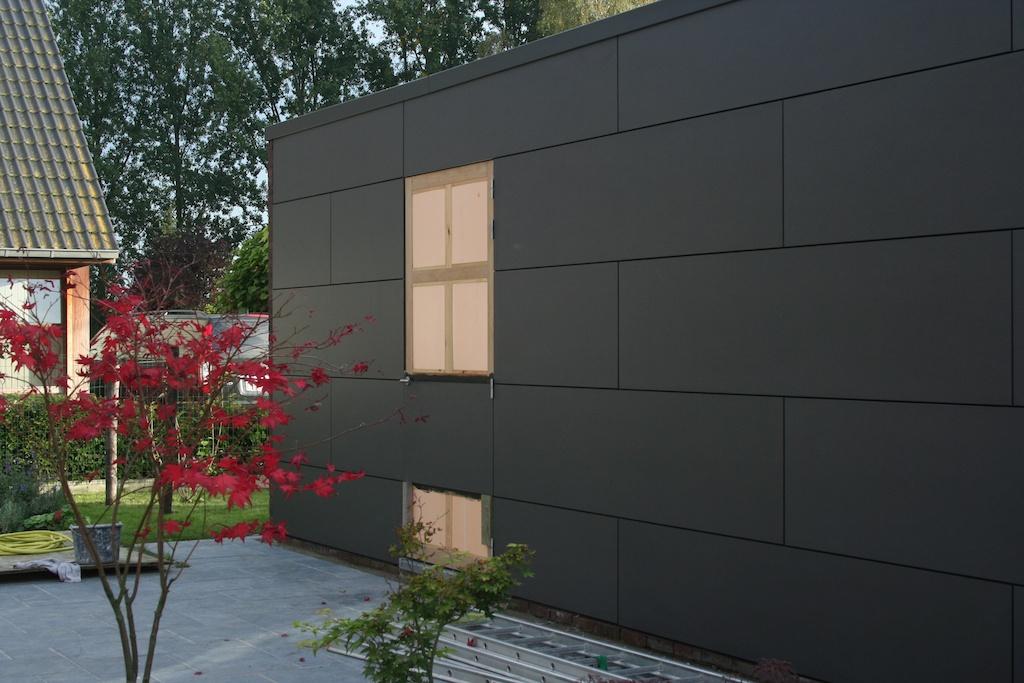 een passiefhuis in laarne eternit gevel afgewerkt. Black Bedroom Furniture Sets. Home Design Ideas