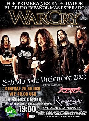 EcuaMetal !!!!!: WARCRY EN ECUADOR