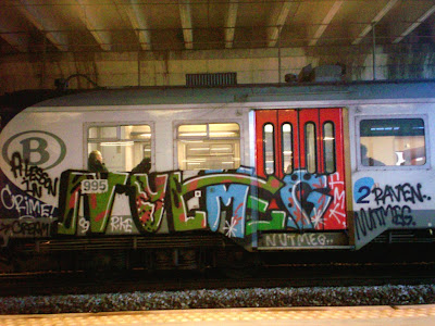 Nutmeg FMK RKE a lesson in crime train graffiti