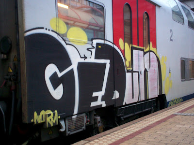 Gedun train graffiti