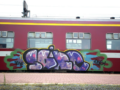 Saine ddng graffiti train art