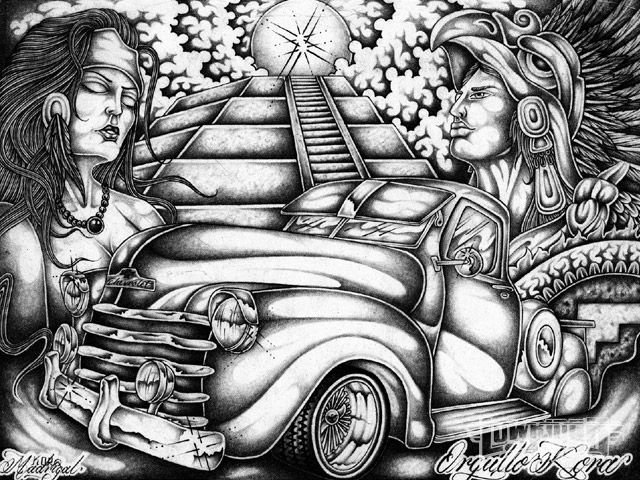 Gangsta Girls And Lowriders Wallpaper To 241 Otic Lowrider