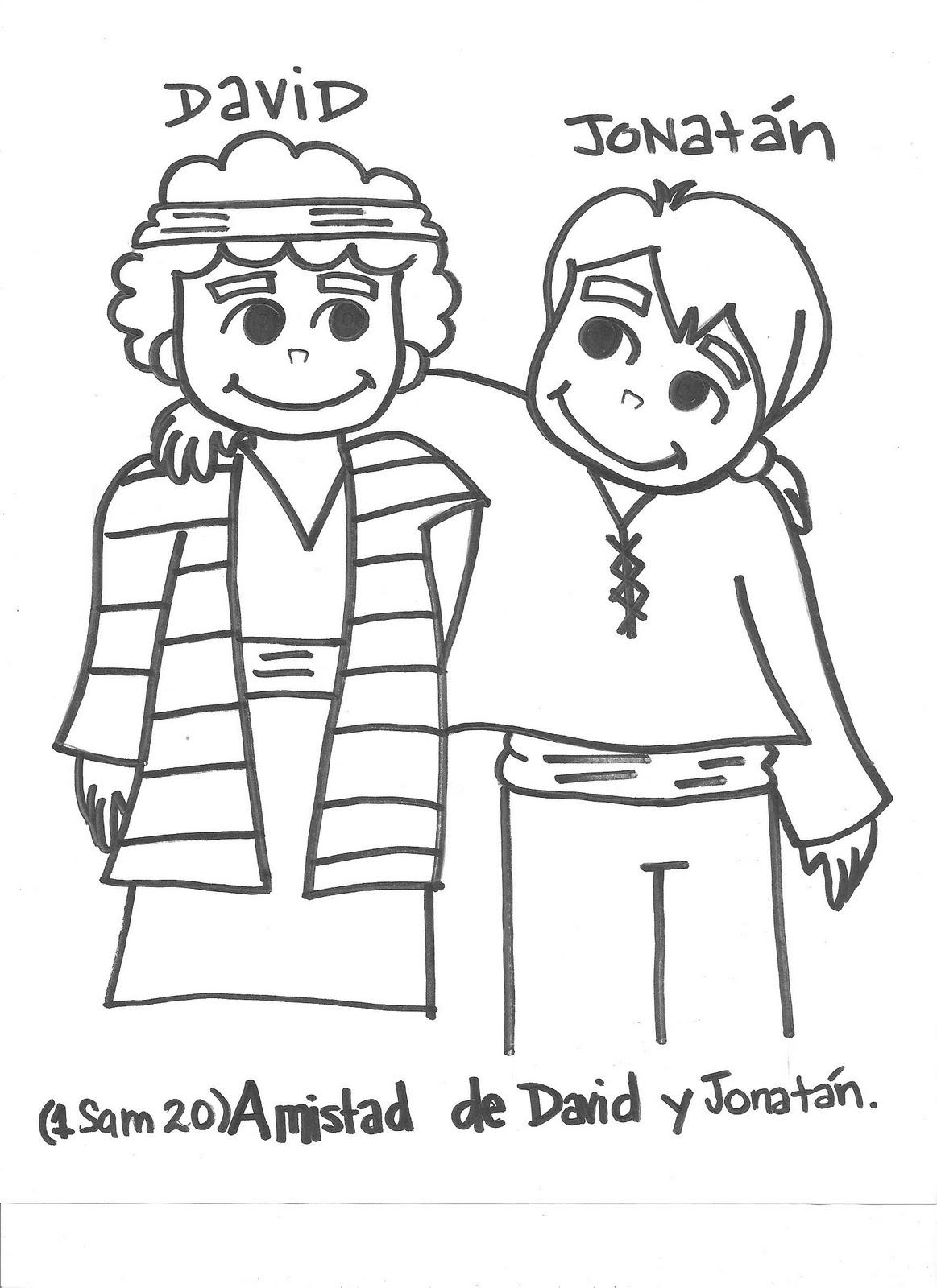 David and jonathan coloring pages free