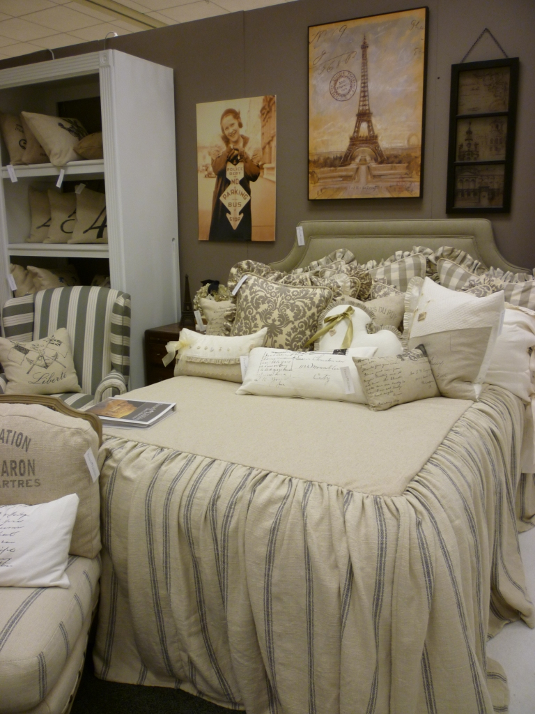 Youngblood Interiors: Custom Bedding: French Laundry At