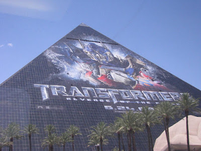 transformers 2 revenge of the fallen Luxor poster day