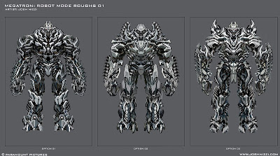 Megatron robot mode rough designs