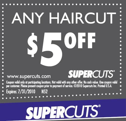 Supercuts discount coupons