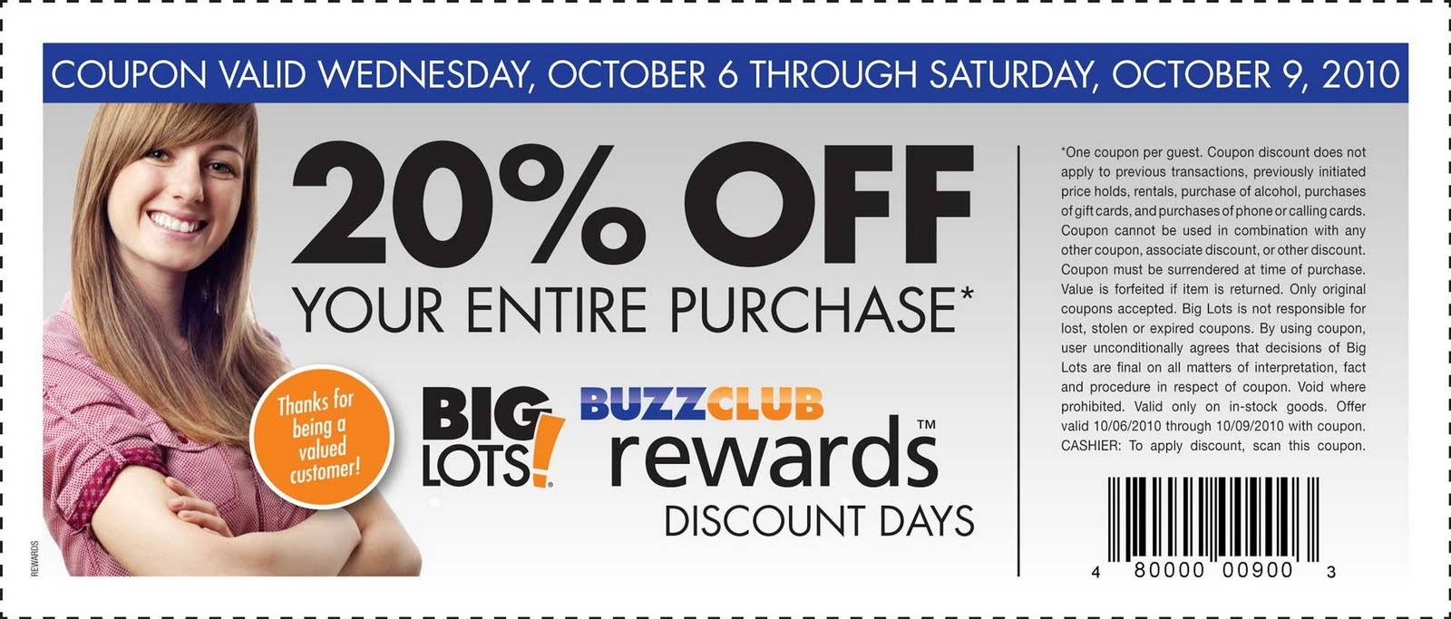 big lots coupon big lots get 20 your entire purchase funtastic 10103