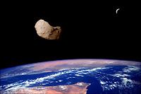 Astéroïde en approche. Document T.Lombry.