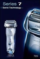 Le rasoir électrique Braun 720 (2009) vendu 270€. Document Braun.