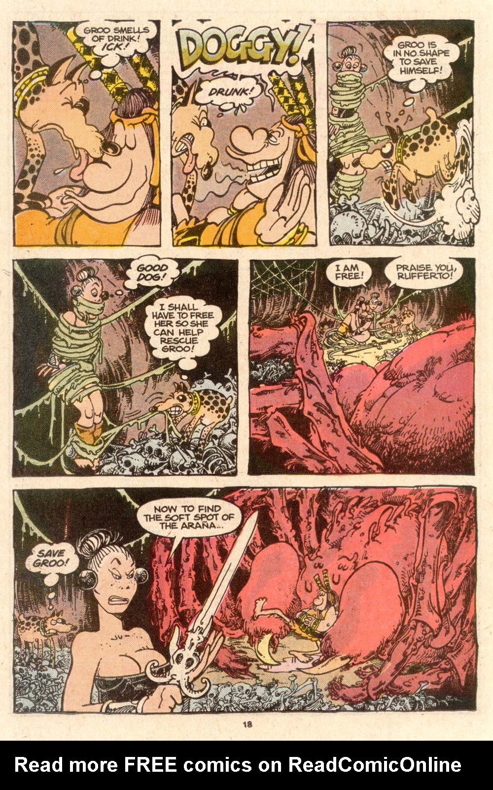 Read online Sergio Aragonés Groo the Wanderer comic -  Issue #52 - 18