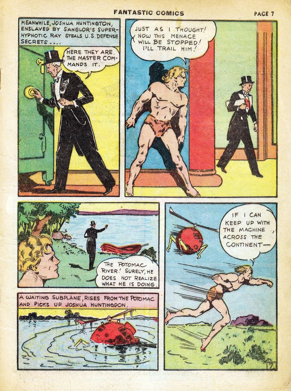 Read online Fantastic Comics comic -  Issue #7 - 9