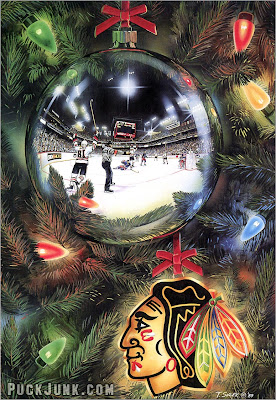 1989 Blackhawks Holiday Card