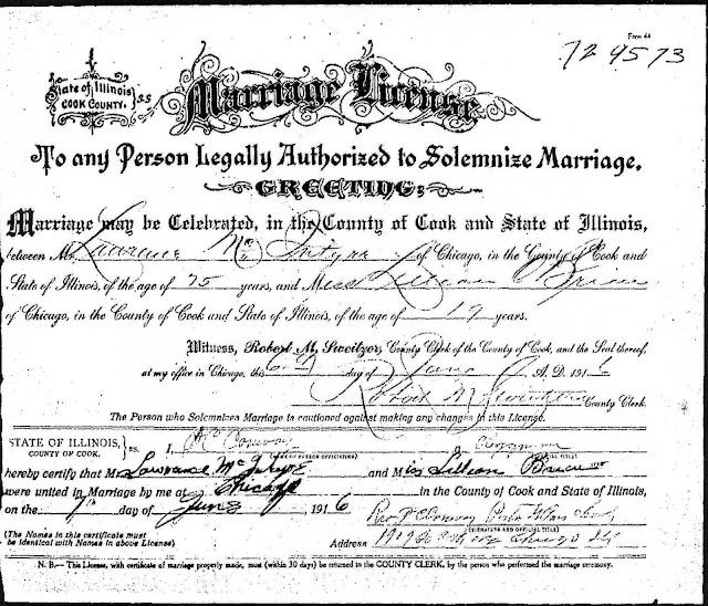 McIntyre/Ginty Genealogy: McIntyre-O'Brien Marriage