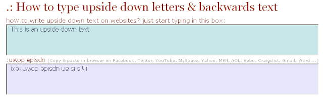 Internet's Best Secrets: How to Write Upside Down Text