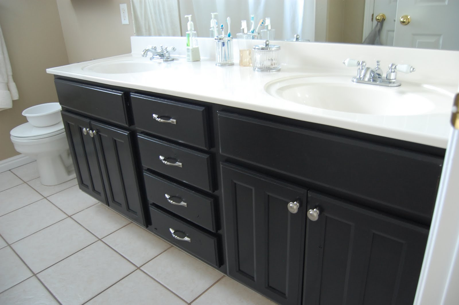 Design Gal & Her Handyman: {bathroom projects & a new job}