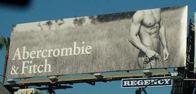 Abercrombie & Fitch model billboard on Sunset Blvd