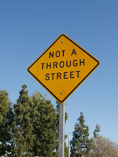 Not a through road sign