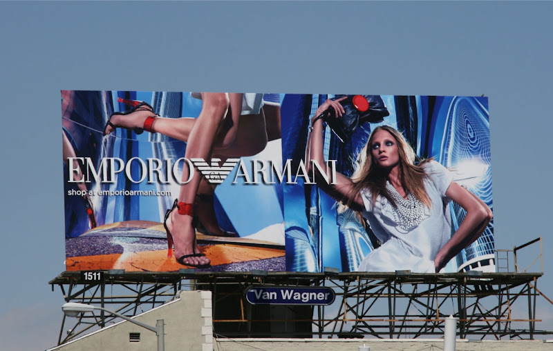 Emporio Armani May 2010 fashion billboard