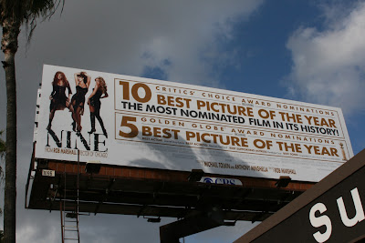 Nine musical movie billboard