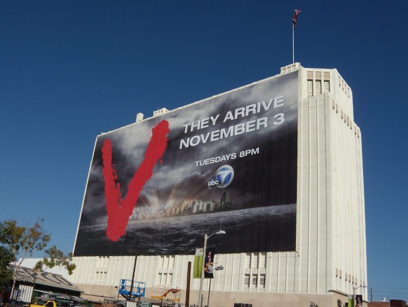 V season 1 TV billboard