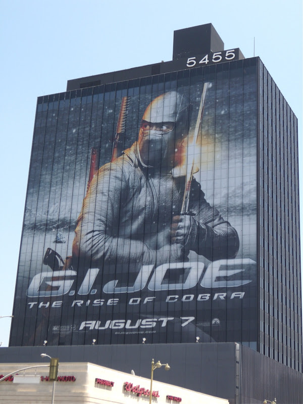 GI Joe Storm Shadow movie billboard