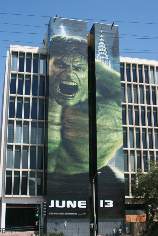 The Incredible Hulk 2008 movie billboard
