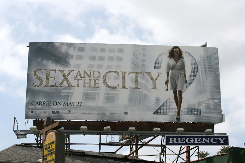 Sex and City 2 Carrie On movie billboard