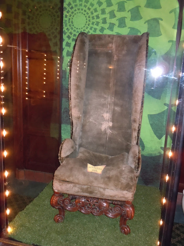 Alice in Wonderland Mad Hatter chair prop