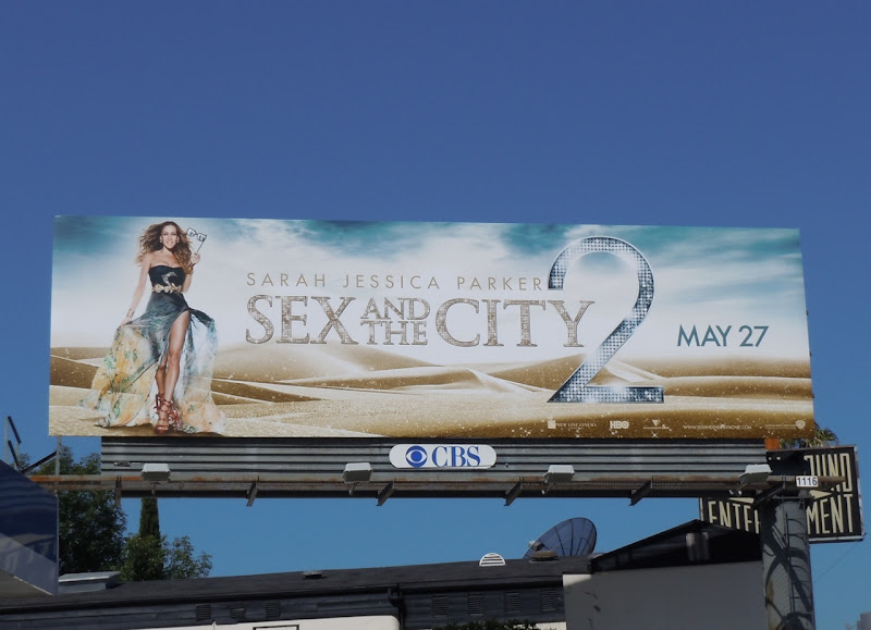Sex and the City 2 Desert Carrie movie billboard