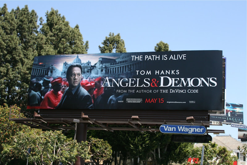 Tom Hanks Angels and Demons billboard