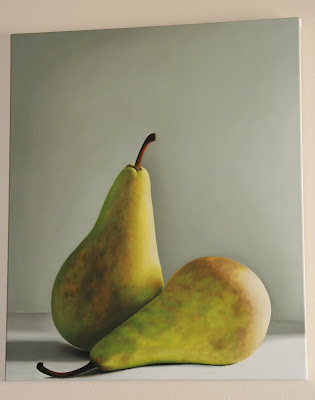Affection painting by Sarah Wood who specialises in still life pears