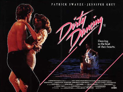 Dirty Dancing movie poster with Patrick Swayze and Jennifer Grey