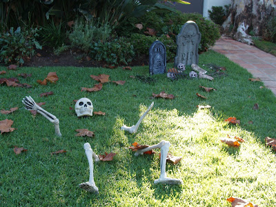 Gravestones & skeletons on the streets of WEHO