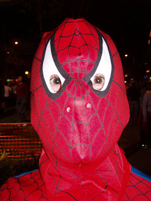 Spider-man at the West Hollywood Halloween parade