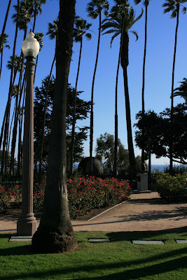 The rose garden in Palisades Park, Santa Monica