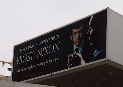 Frost / Nixon movie billboard