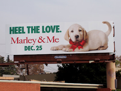Marley & Me movie billboard on Melrose Avenue