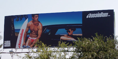 Aussie bum male underwear billboard