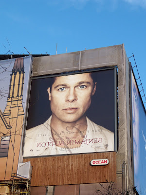 Brad Pitt Benjamin Button movie billboard in London