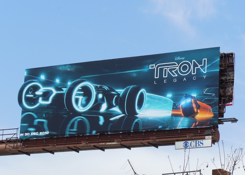 Tron Legacy Light Runner billboard