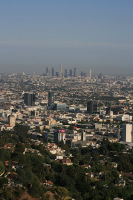Sprawling Downtown LA view in August 2008