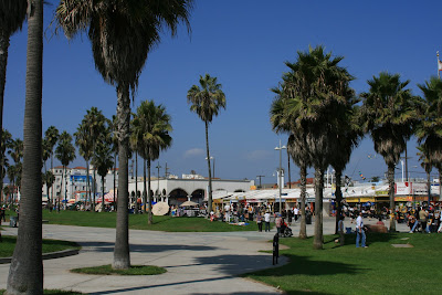 Bustling Venice Beach Boardwalk