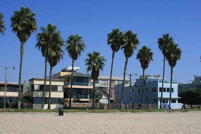 Homes along the sand at Venice Beach