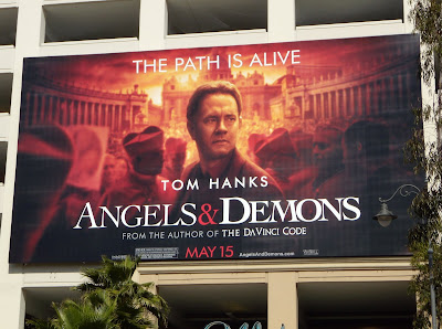 Angels and Demons movie billboard at The Grove
